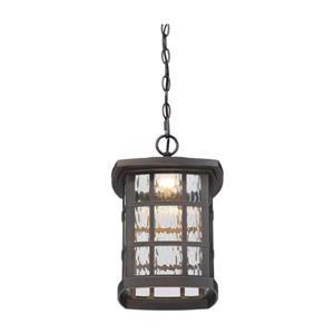 Quoizel Coastal Armour 9.5-in Palladian Bronze Traditional Lantern LED Pendant Lighting