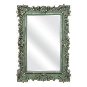 Imax Worldwide Sophia 40.75-in L x 28.75-in W Green Beveled Wall Mirror