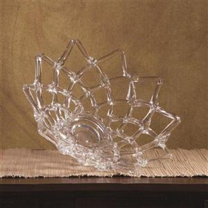 Imax Worldwide Clear  17.7-in x 17.7-in Clear Glass Web Bowl