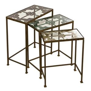 IMAX Worldwide Groveport 3-Piece Fir Accent Table Set