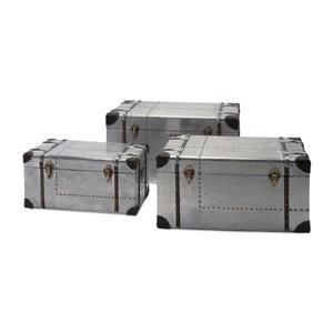 IMAX Worldwide 912-cu ft Auminum Metal Storage Trunk