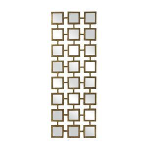 Imax Worldwide Kingsley 41-in L x 16-in W Modern Gold Framed Wall Mirror Vertical/Horizontal