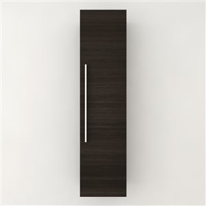 Cutler Kitchen & Bath Silhouette 15-in W x 60-in H x 12-in D Dark Chocolate Composite Wall-Mount Linen Cabinet