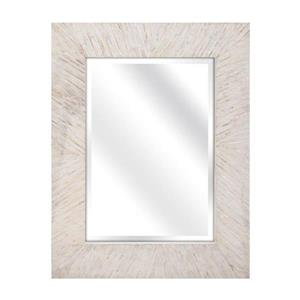 Imax Worldwide Embry 34-in L x 26.75-in W Mother Of Pearl Beveled Wall Mirror