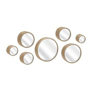 Imax Worldwide Covington Gold Framed Round Wall Mirror Set of 7