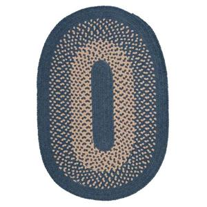 Colonial Mills Jackson 4-ft Round Federal Blue Indoor Area Rug