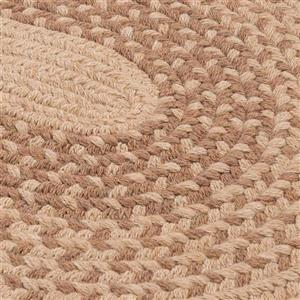 Colonial Mills Jackson 7-ft x 9-ft Oval Oatmeal Indoor Area Rug