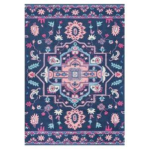 Blue Dorla Floral Medallion Area Rug