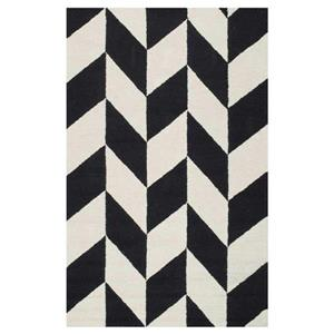 Black and White Hand Tufted Katte Area Rug