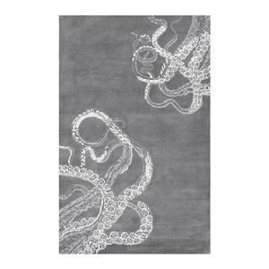 Hand Tufted Octopus Tail Midnight Area Rug