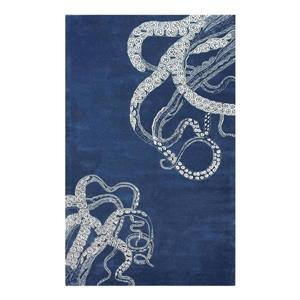 Hand Tufted Octopus Tail Navy Area Rug