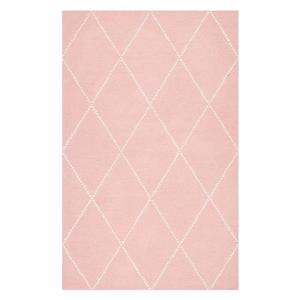 Baby Pink Hand Tufted Elvia Kids Area Rug