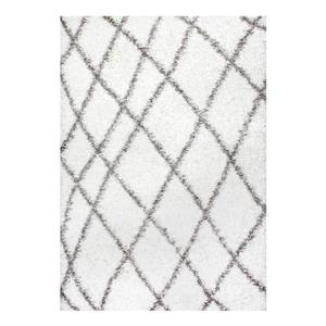 Alvera Easy Shag White Area Rug