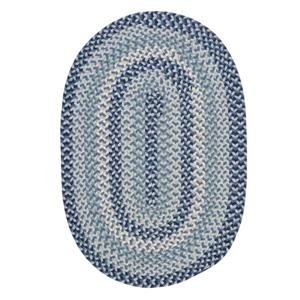 Colonial Mills Boston Common 7-ft x 9-ft Capeside Blue Oval Area Rug