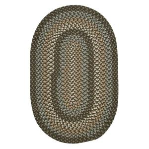 Colonial Mills Boston Common 7-ft x 9-ft Moss Green Oval Area Rug