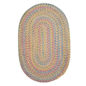 Colonial Mills Botanical Isle 8-ft x 11-ft Kiwi Oval Area Rug