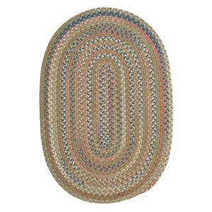 Colonial Mills Cedar Cove 5-ft x 8-ft Handcrafted Olive Oval Rug