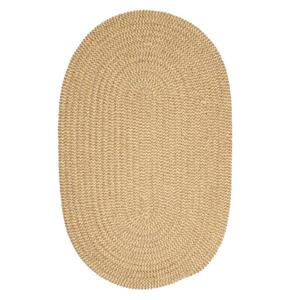Colonial Mills Softex Check 4-ft x 6-ft Oval Indoor Pale Banana Area Rug