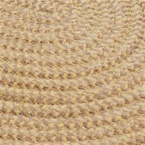 Colonial Mills Softex Check 6-ft Round Pale Banana Check Area Rug