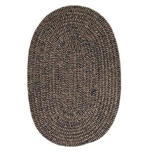 Colonial Mills Softex Check 6-ft Round Navy Check Area Rug