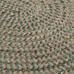 Colonial Mills Softex Check 4-ft Round Myrtle Green Check Area Rug