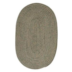 Colonial Mills Softex Check 8-ft Round Myrtle Green Check Area Rug