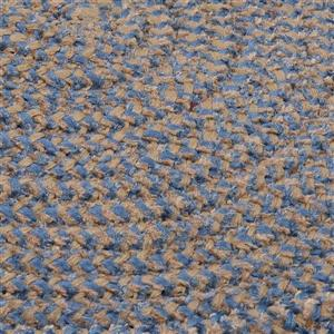 Colonial Mills Softex Check 4-ft Round Blue Ice Check Area Rug