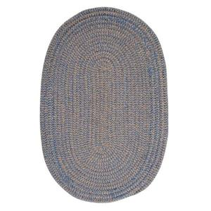 Colonial Mills Softex Check 6-ft Round Blue Ice Check Area Rug