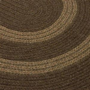 Colonial Mills Graywood 5-ft x 6-ft Brown Round Area Rug