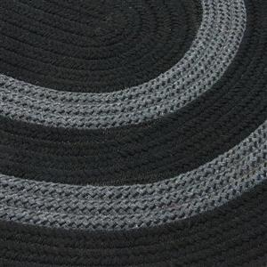 Colonial Mills Graywood 7-ft x 8-ft Black Round Area Rug