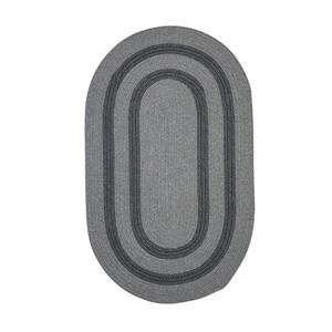 Colonial Mills Graywood 7-ft x 9-ft Gray Oval Area Rug