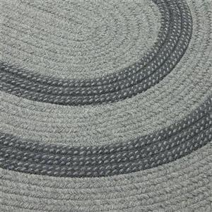 Colonial Mills Graywood 8-ft x 11-ft Gray Oval Indoor Handcrafted Area Rug