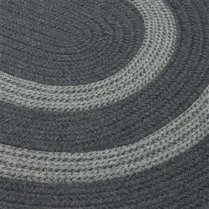 Colonial Mills Graywood 7-ft x 9-ft Charcoal Oval Area Rug