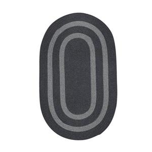 Colonial Mills Graywood 10-ft x 13-ft Charcoal Oval Area Rug