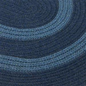 Colonial Mills Graywood 3-ft x 5-ft Navy Oval Area Rug