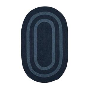 Colonial Mills Graywood 3-ft x 5-ft Navy Round Area Rug