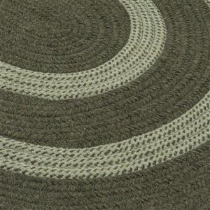 Colonial Mills Graywood 5-ft x 6-ft Moss Green Round Area Rug