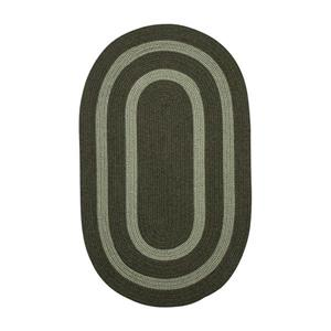 Colonial Mills Graywood 7-ft x 9-ft Moss Green Oval Indoor Handcrafted Area Rug