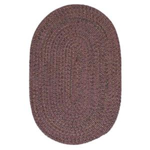 Colonial Mills Hayward 5-ft x 6-ft Round Plum Indoor Area Rug