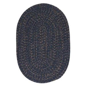 Colonial Mills Hayward 8-ft x 11-ft Oval Navy Indoor Area Rug