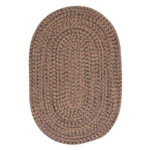 Colonial Mills Hayward 5-ft x 6-ft Round Mocha Indoor Area Rug