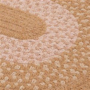 Colonial Mills Jackson 5-ft x 8-ft Round Evergold Indoor Area Rug