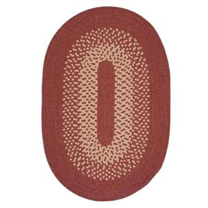 Colonial Mills Jackson 5-ft x 6-ft Round Rosewood Indoor Area Rug