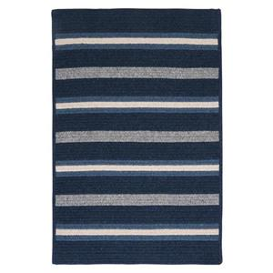 Colonial Mills Salisbury 4-ft x 4-ft Square Indoor Navy Area Rug