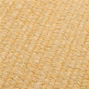 Colonial Mills Simple Chenille 7-ft x 9-ft Dandelion Rectangular Indoor Handcrafted Area Rug