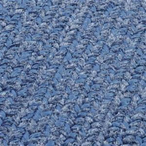 Colonial Mills Simple Chenille 2-ft x 12-ft Petal Blue Runner