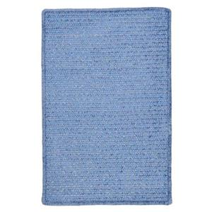 Colonial Mills Simple Chenille 6-ft x 6-ft Petal Blue Square Indoor Handcrafted Area Rug