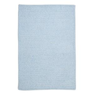 Colonial Mills Simple Chenille 7-ft x 9-ft Sky Blue Rectangular Indoor Handcrafted Area Rug