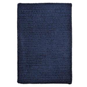 Colonial Mills Simple Chenille 7-ft x 9-ft Navy Rectangular Indoor Handcrafted Area Rug