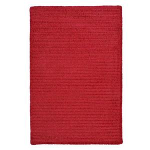 Colonial Mills Simple Chenille 7-ft x 9-ft Sangria Rectangular Indoor Handcrafted Area Rug
